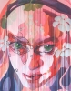 115cm(w) x 150cm(h), Acrylic, glitter and varnish on cotton.