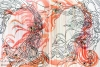 Diptych: 2 x 140 x 190cm, Pencil, acrylic, glitter, lacquer and varnish on linen.
